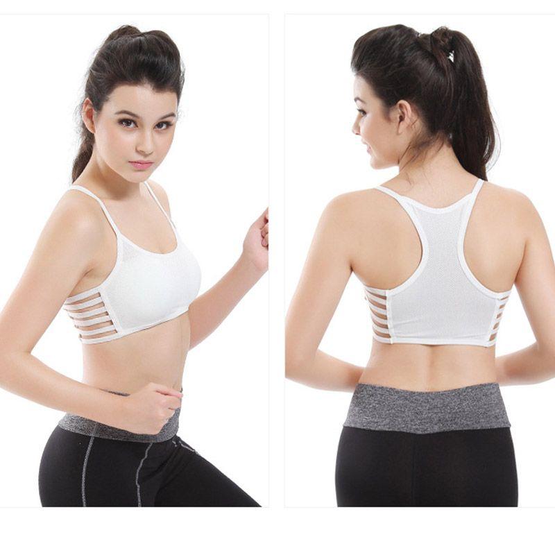 DANENJOY Sommer Yoga Bh Frauen Baumwolle Stretch Athletischer Weste Gym Fitness Sport Keine Felgen 1/4 Tasse Gepolsterte Bunte Plus Größe