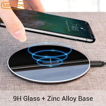 Torras Оригинал Ци Беспроводной Зарядное устройство для iPhone x 8 8 плюс тонкий быстро 10 Вт USB Беспроводной зарядки для samsung s8/S7 край Беспроводной Pad