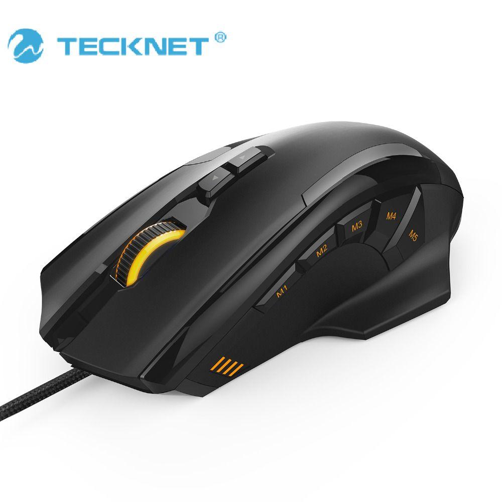 TeckNet 4D Laser Gaming Mouse avec 16400 DPI 12 Bouton Tuning Cartouche Micro Commutateurs Pour Ordinateur PC Ordinateur Portable de bureau LOL jeu