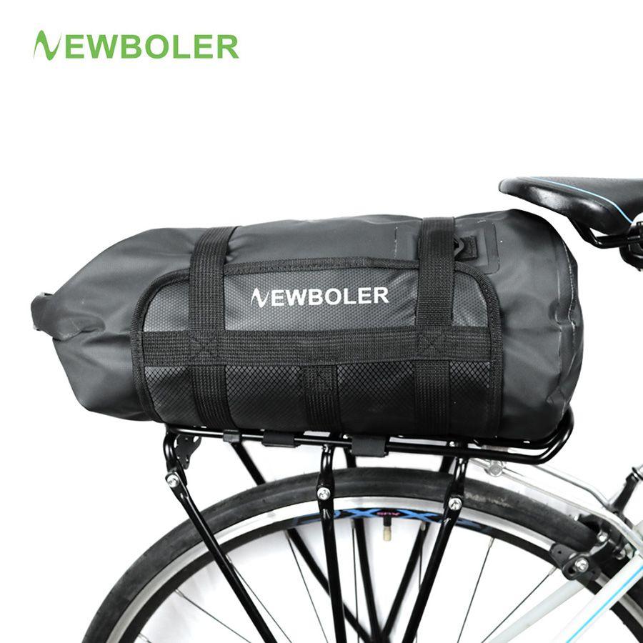 NEWBOLER Waterproof Bicycle Carrier Bag Rack Trunk 10L Bike Luggage Back Seat Pannier Outdoor Cycling Storage Bag Shoulder Strip