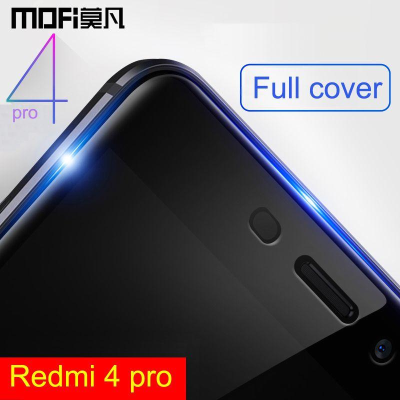 Redmi 4 pro en verre trempé xiaomi redmi4 pro premier redmi4 écran protecteur film pleine couverture 5.0 xiaomi redmi 4 pro verre