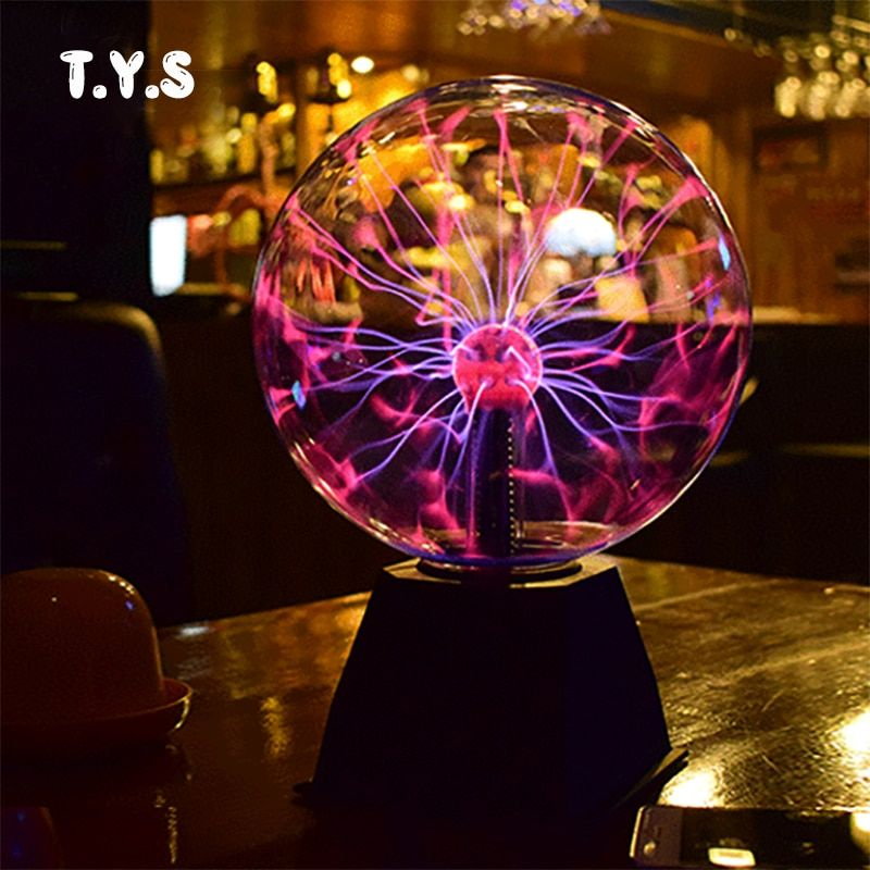 NEW Novelty Magic Crystal Plasma Ball lava lamp Creative light Graduation Birthday Christmas Kids Room Decor Gift Box Lightning