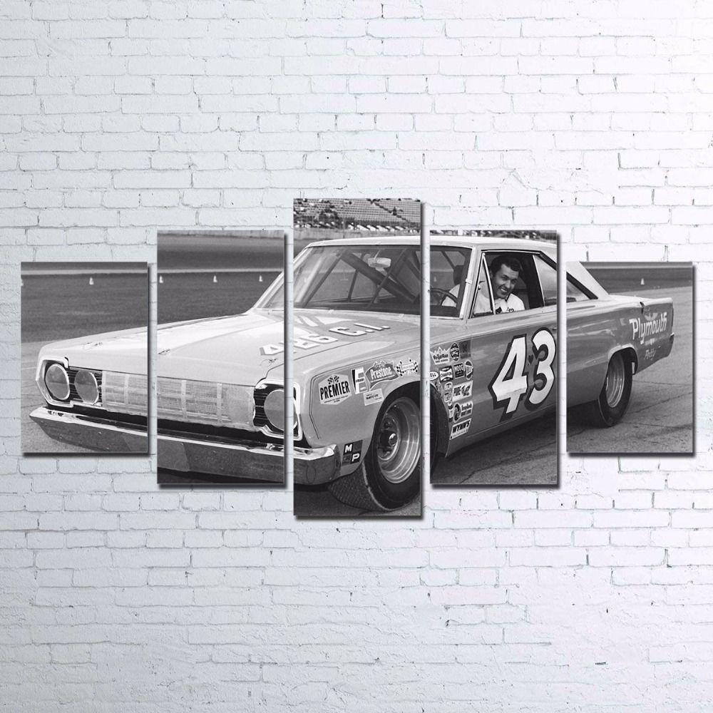 Lienzo pinturas marco HD imprime 5 unidades retro del cartel del coche de competición coche deportivo imágenes Decoración para el hogar para la Sala de Arte de la pared