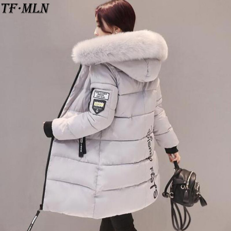 Warm Women Winter Jacket Plus Size 2017 Fashion Womens Jacket Thick Big Fur Hooded Long Down Cotton Padded Female Coat Parka