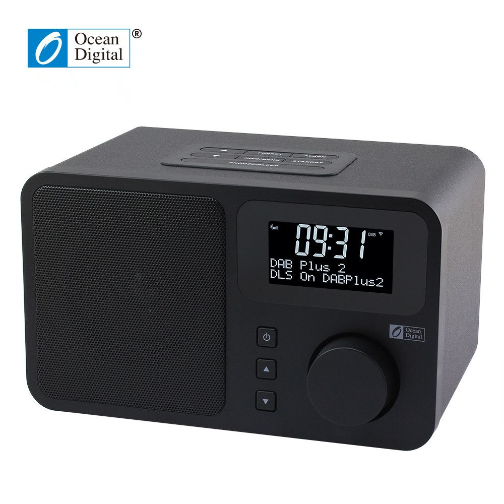 O-014 Ocean Digital DB-230B DAB+FM Digital Bluetooth Radio Dual alarm clock dual band digital tuning Desktop Radio