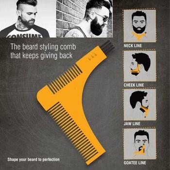 Salon Cheveux Tondeuse Barbe Peigne Garniture Styling Homme Gentleman Barbe Bro Garniture Modèle hair cut moulage Cheveux clipper barbe modèle outils