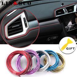 5 M car styling marca Adhesivos y Decals interior decorativo 3D Hilos Adhesivos decoración tira en el coche-styling auto accesorios