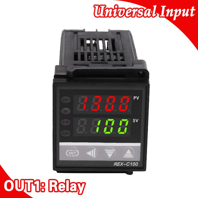 Freeshipping Digital PID TEMPERATURE <font><b>CONTROLLER</b></font> Thermostat Universal Input Relay Output