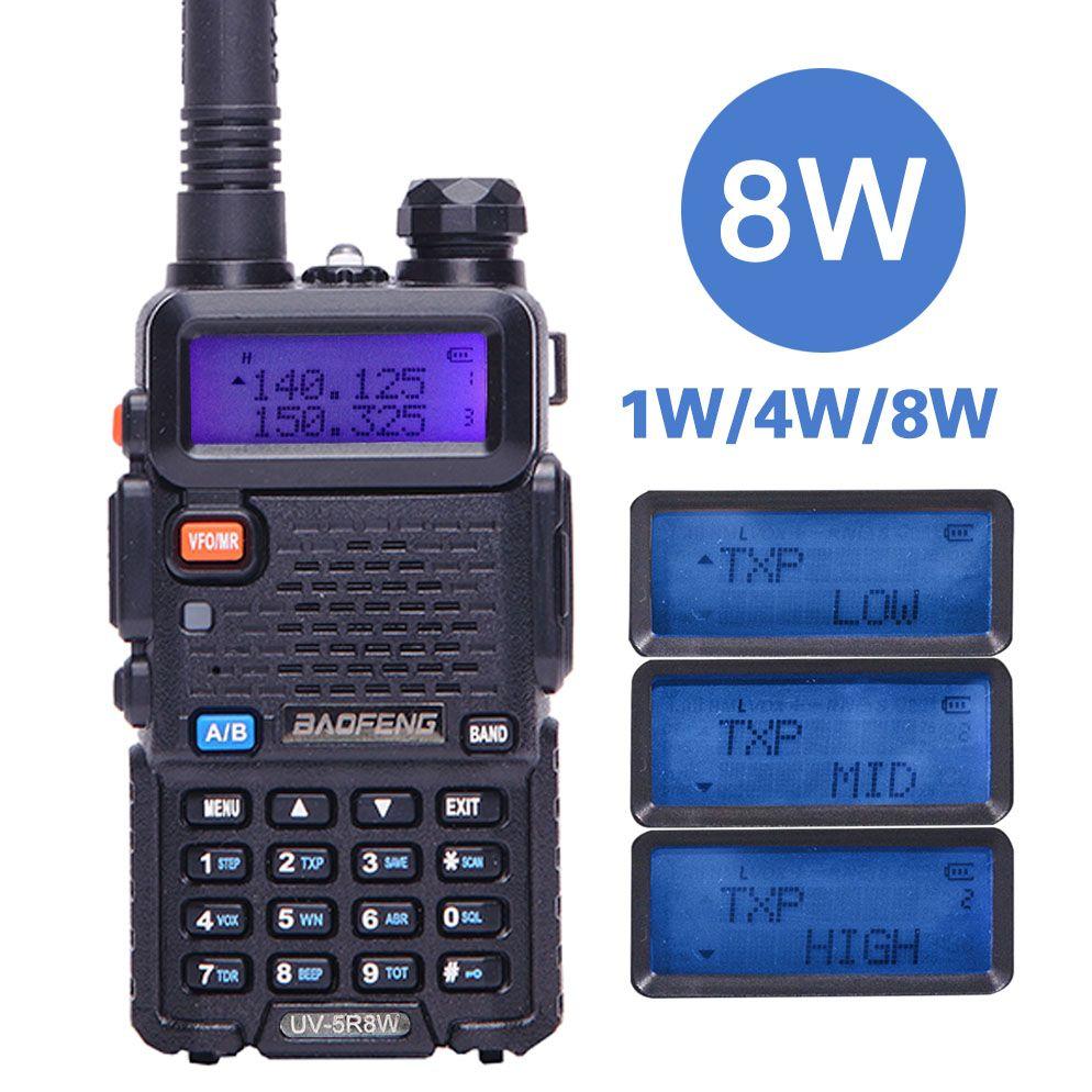 BaoFeng UV-5R 8W powerful Walkie Talkie 8Watts 10KM long range Two way CB radio uv 5r handheld uv5r