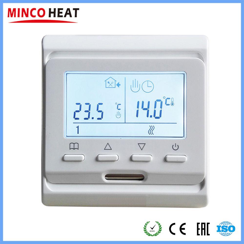 220V LCD Programmable électrique numérique chauffage par le sol Thermostat d'air ambiant contrôleur de sol chaud (1 PC)