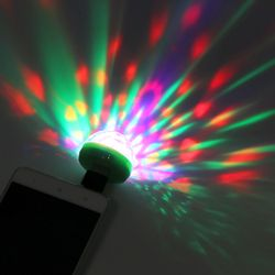 Mini 4-LED Disco Ball USB Powered Stage Light RGB Stage Decoration Projector Rotating Mirror Disco Ball For Party Holiday Decora