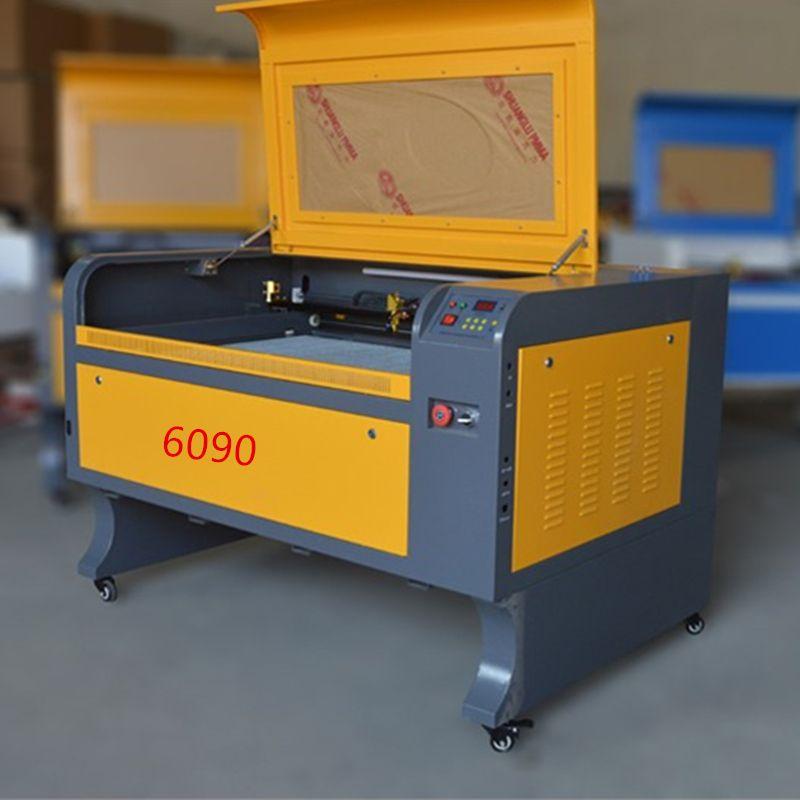80 watt freies verschiffen 6090 co2 laser stecher maschine acryl leder holz glas kristall laser gravur schneiden maschine CO2 laser