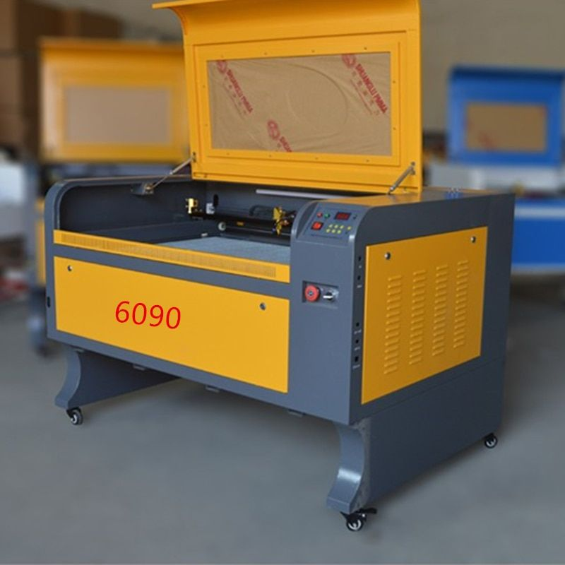 80w free shipping 6090 co2 laser engraver machine acrylic leather wood glass crystal  laser engraving cutting machine CO2 laser