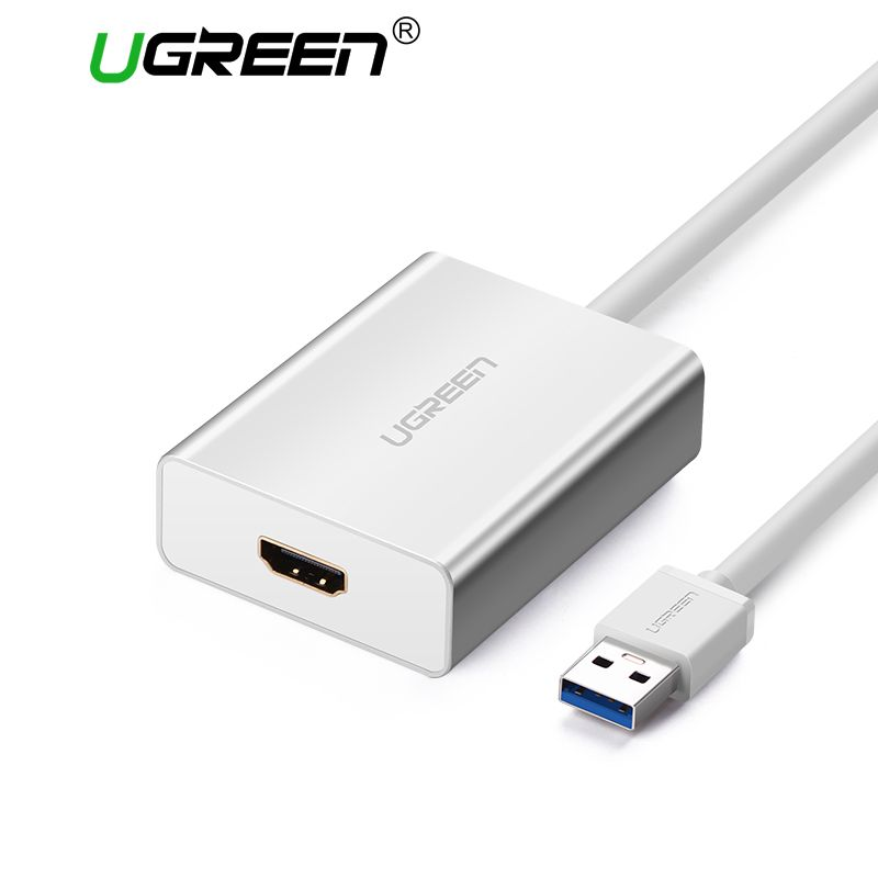 Ugreen USB HDMI VGA DVI Adapter External USB to HDMI Multi-Display Adapter Male to Female Projector Connector Converter USB HDMI