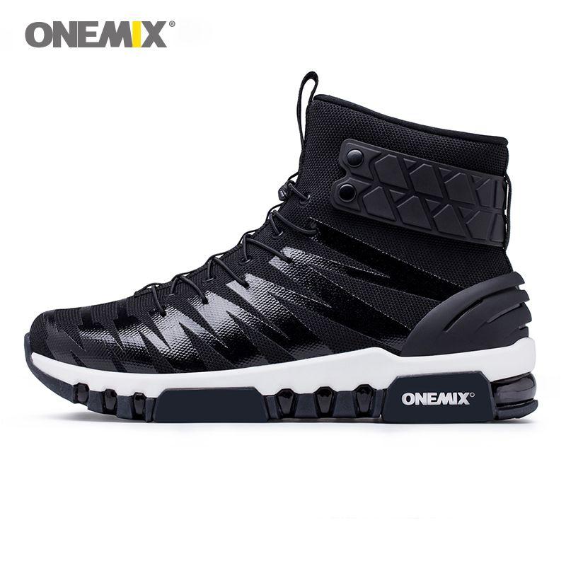 Onemix boots for men running shoes for women sneakers men's high top boots for outdoor walking running trekking sneaker big size