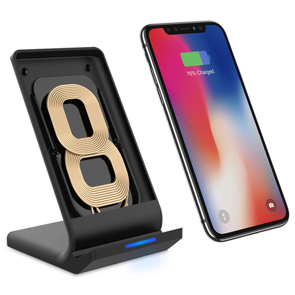 FLOVEME Chargeur Rapide Sans Fil Pour Samsung Galaxy Note 8 S8 Plus Desktop Dock De Recharge Sans Fil Pour iPhone X 8 Plus accessoires