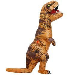 Для взрослых и детей надувной костюм динозавра T костюмы тираннозавров для мужчин женщин Halloween вечерние Y необычный праздничный наряд коспл...