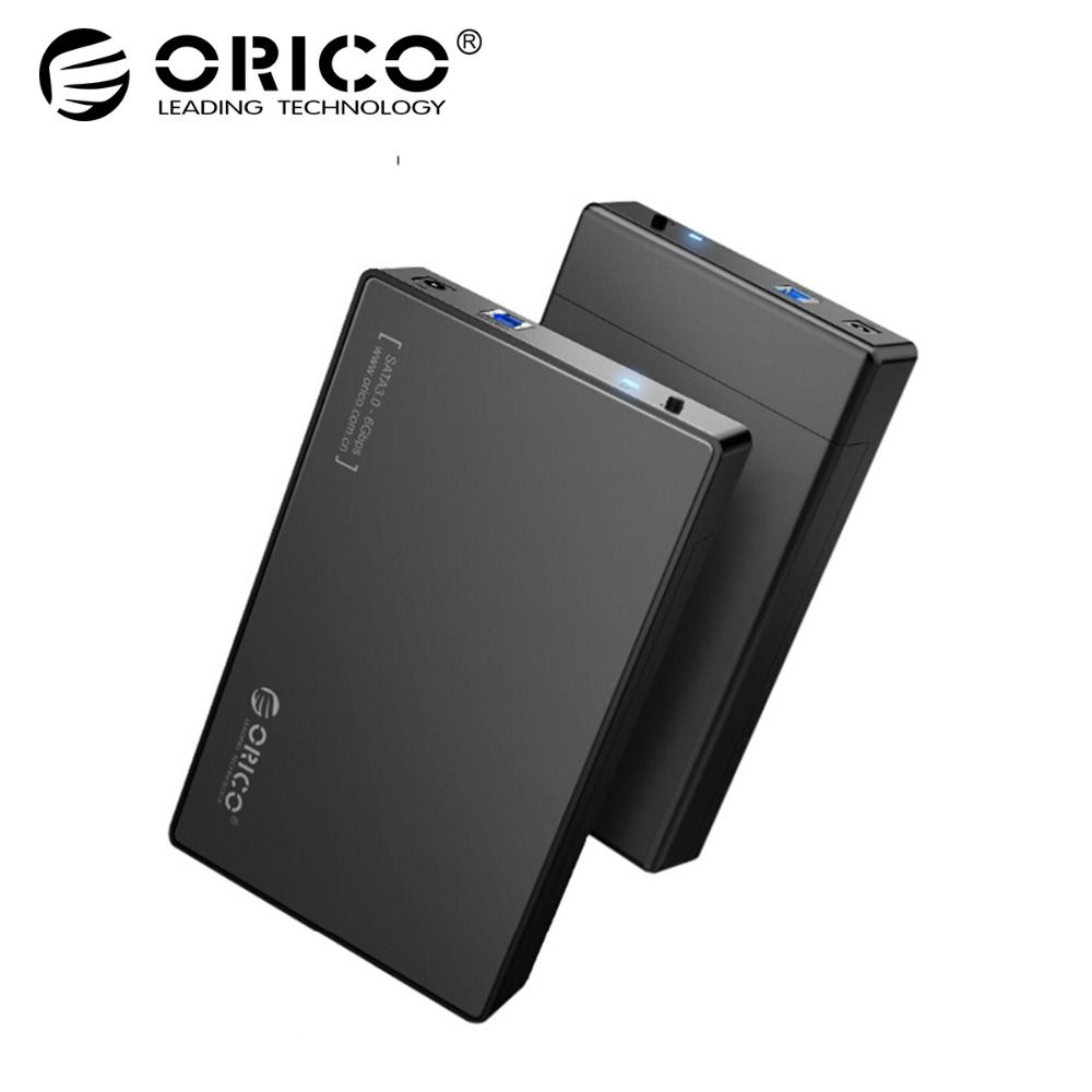 ORICO HDD Case 3.5 inch Tool Free SATA to USB 3.0 SSD Adapter Hard <font><b>Drive</b></font> Case External HDD Enclosure for 2.5 3.5 inch HDD SSD