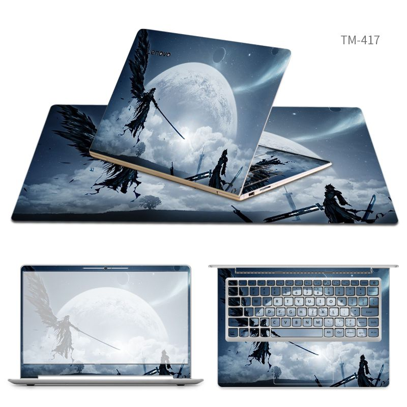 Free Cutting Laptop Stickers with Same Style Mouse Pad Skin for Lenovo M51 80/miix2 10/S21e 20/yoga 700/900/910/tianyi 100/300