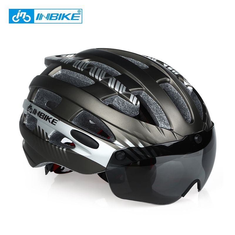 INBIKE Cycling Helmet Ultralight Bike Helmet Men <font><b>Mountain</b></font> Road Women MTB Windproof Glasses Bicycle Helmet Casco Ciclismo MX-3