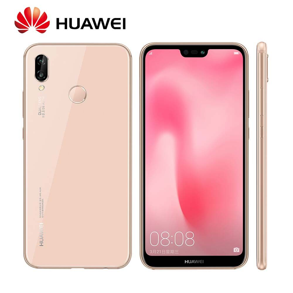 Global Rom Huawei P20 Lite Nova 3e 4/128GB Face ID Fingerprint Full View Screen 24MP Front camera 4G LTE Mobile Phone