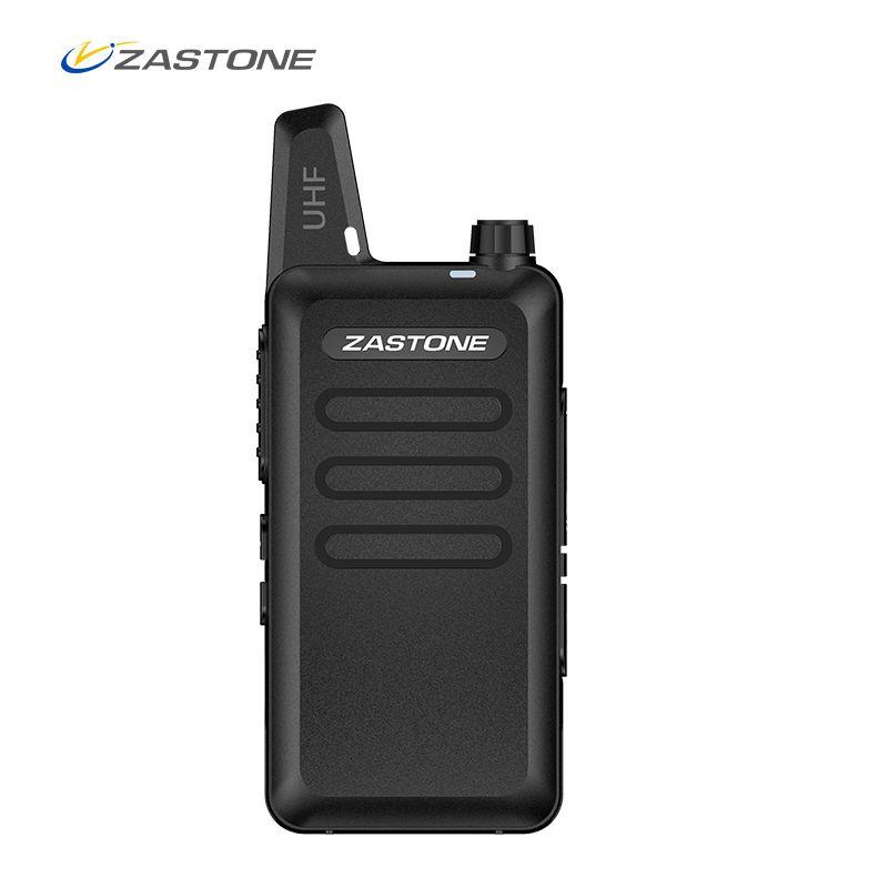 Zastone X6 Mini Walkie Talkie with Headset 400-470Mhz Frequency UHF Handheld Radios Intercom Two-Way Radio Security Equipment
