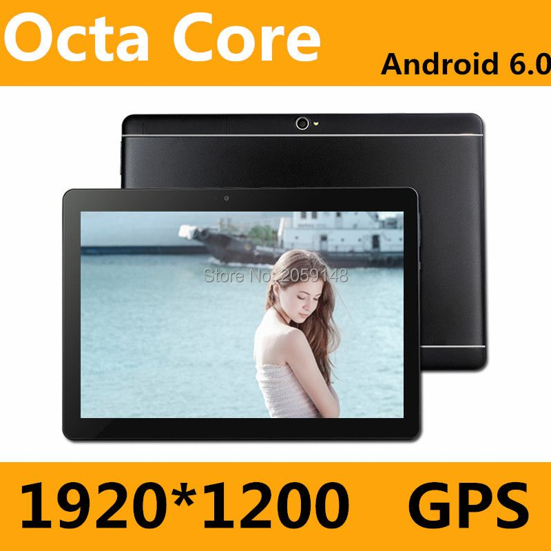 New 10 inch Android 7.0 3G/4G Tablets Octa Core RAM 4GB ROM 64GB Dual SIM Cards 1920*1200 IPS HD 10.1 inch Tablet PCs