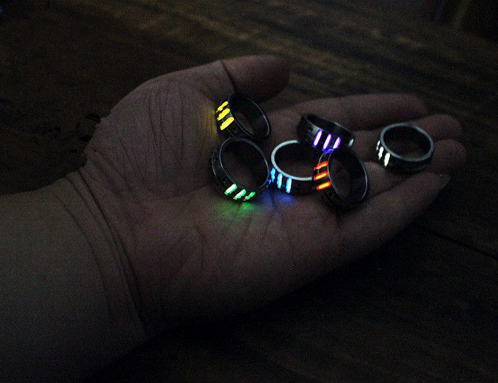 18mm Titanium Alloy Finger Ring with 3pcs Tritium Tubes for Men EDC Luminous Rings EDC Multi Tools for Women Jewelry Christmas