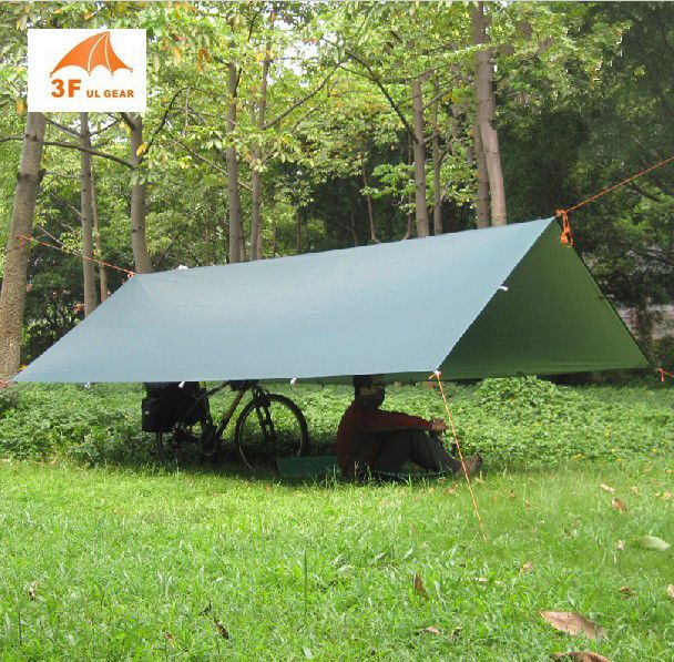 3F ul Gear Silver Coating Anti UV Ultralight Sun Shelter Beach <font><b>Tent</b></font> Pergola Awning Canopy 210T Taffeta Tarp Camping Sunshelter
