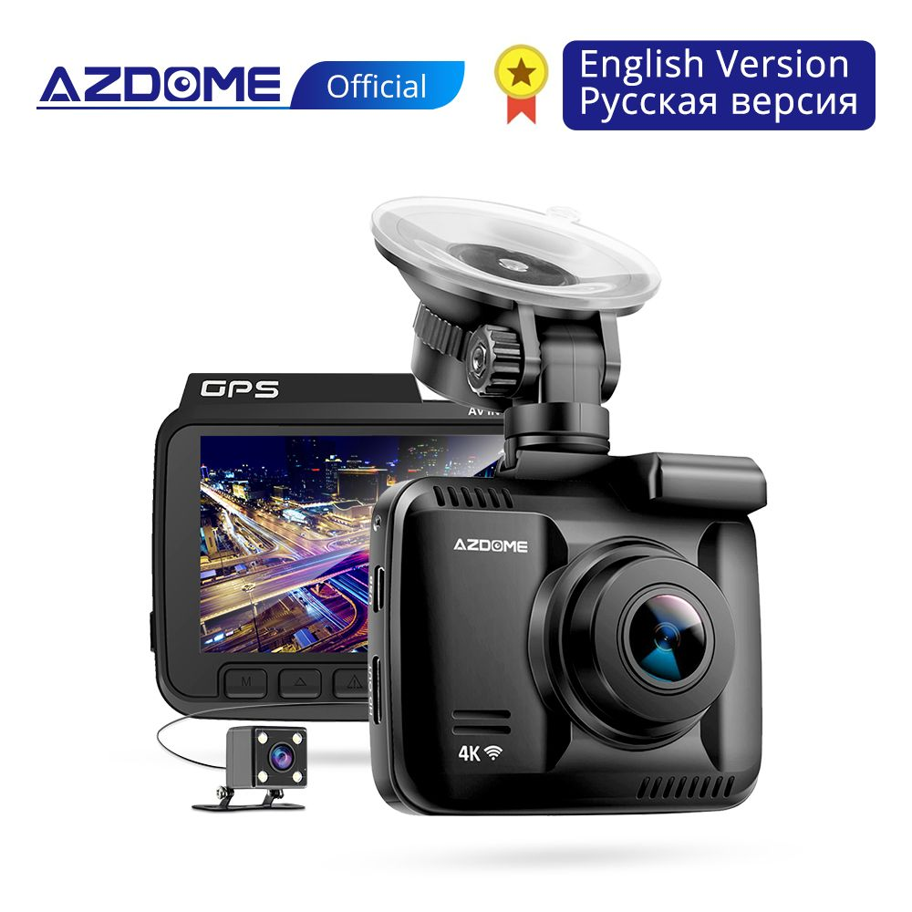 AZDOME GS63H 4K Built in GPS WiFi Car DVRs Recorder Dash Cam Dual Lens Vehicle Rear View Camera Camcorder Night Vision Dashcam