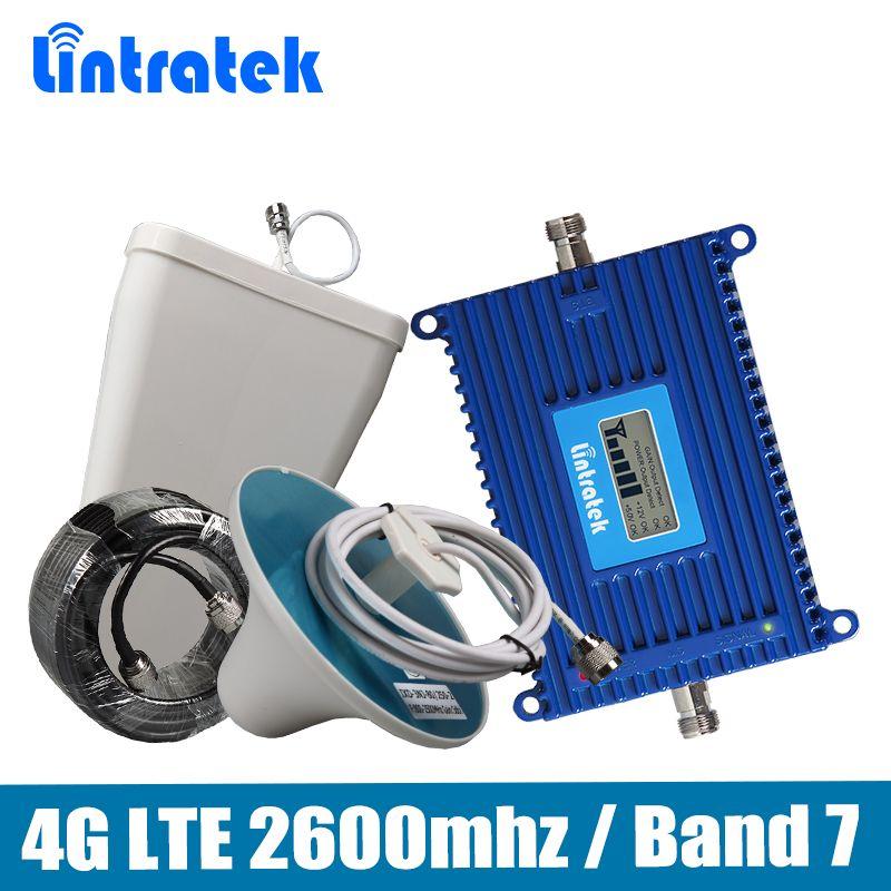 Усиления 70db 4 г LTE 2600 усилитель сигнала 4 г LTE 2600 мГц (полоса 7) мобильный ретранслятор сигнала полный набор с ПДСХР/потолок Телевизионные антен...