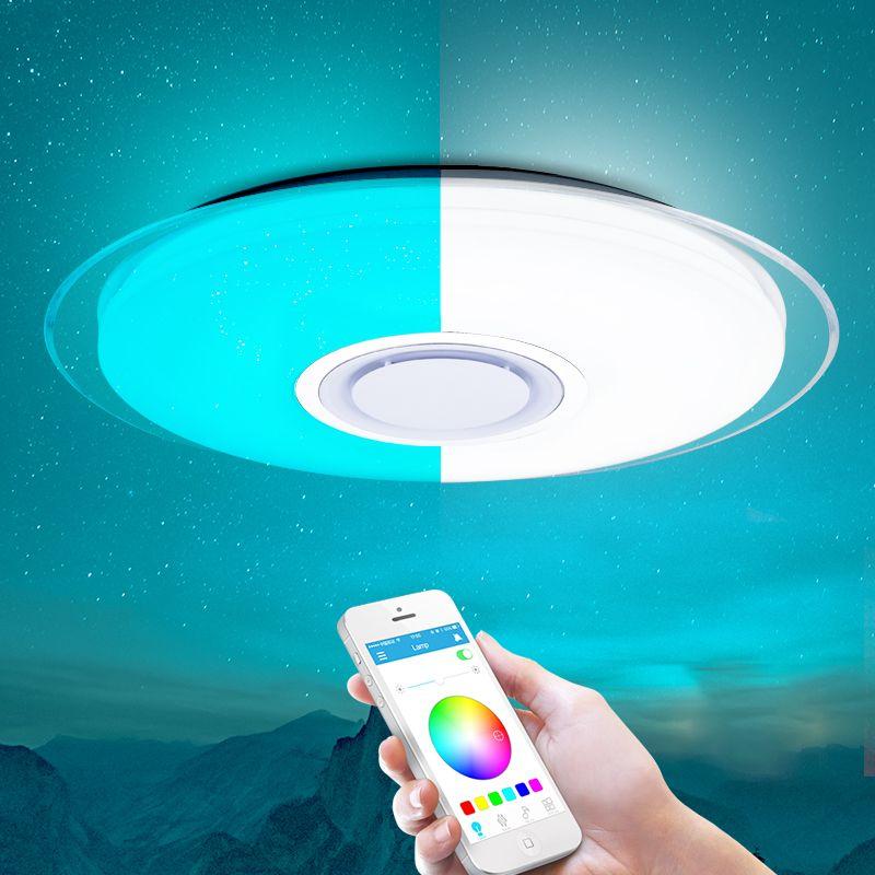 Plafond moderne à LEDs lumière RGB Dimmable APP télécommande Bluetooth musique plafonnier salon/chambre 25 W 36 W 52 W 220 V