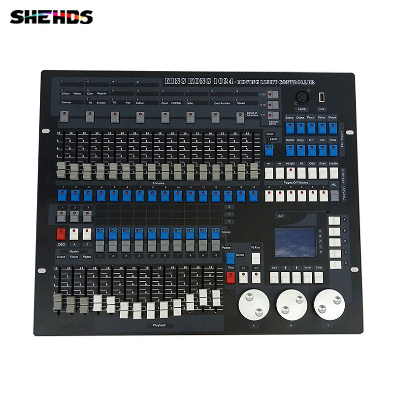 1024 kanäle DMX512 DMX Controller Konsole DJ Disco Ausrüstung Dmx-lichtstellpulte Professionelle Bühnenbeleuchtung Steuergeräte