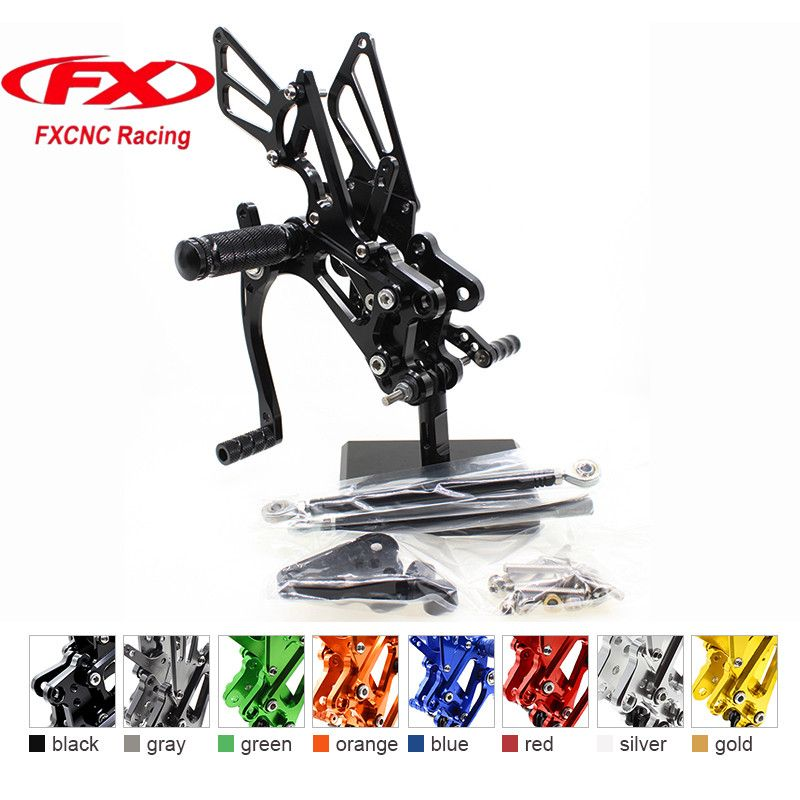 FX CNC Aluminum Adjustable Motorcycle Rearsets Rear Set Foot Pegs Pedal Footrest For HONDA CBR600RR 2007 - 2008 Motorcycles