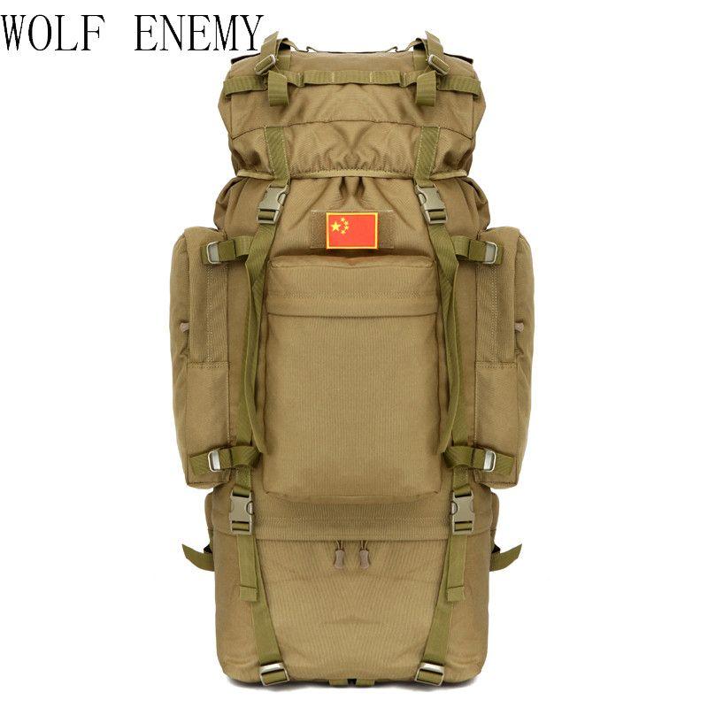 Outdoor 100L Large Capacity Tactical Climbing Backpacks Waterproof Nylon Travel Sport Hiking Climbing Camping Bags Men Mochila