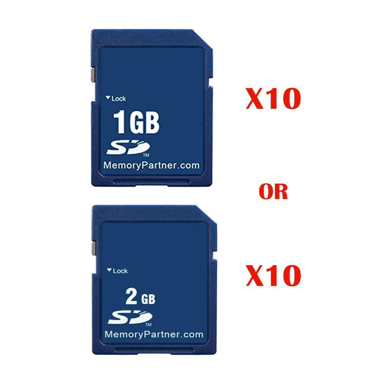 10pcs/Lot SD Card 1GB/2GB Carte Memoire SD Memory Cards Kaart Wholesale China Supplier Cheap High Quality For Free Shipping