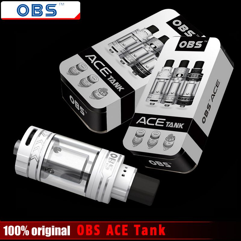 Original OBS ACE Tank 4.5ml with <font><b>Ceramic</b></font> 0.45 Coil 0.3 ohm Coil No RBA Coil OBS ACE Atomizer for 510 Thread Battery