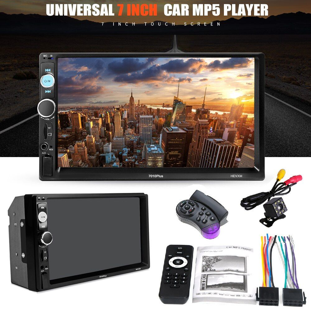 Autoradio Cassette Recorder Car MP5 Media Player Automagnitola 2 Din 7in Touch Screen 7018 PLUS for mazda ford peugeot toyota vw
