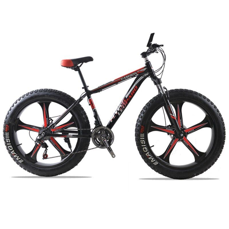 <font><b>Mountain</b></font> bike Aluminum Bicycles 26 inches 21/24 speed 26x4.0 Double disc brakes Fat bike fahrrad road bike bicicleta bicycle