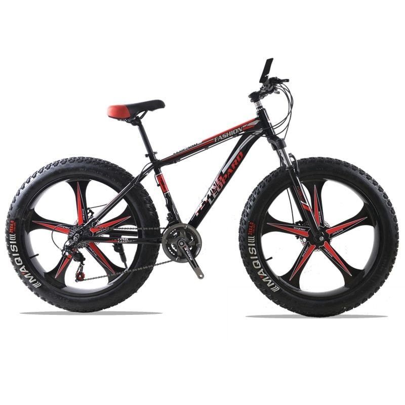 HighQuality Aluminum Bicycles 26 inches 7 speed 21 speed <font><b>26x4.0</b></font> Double disc brakes Mountain Bike Fat bike