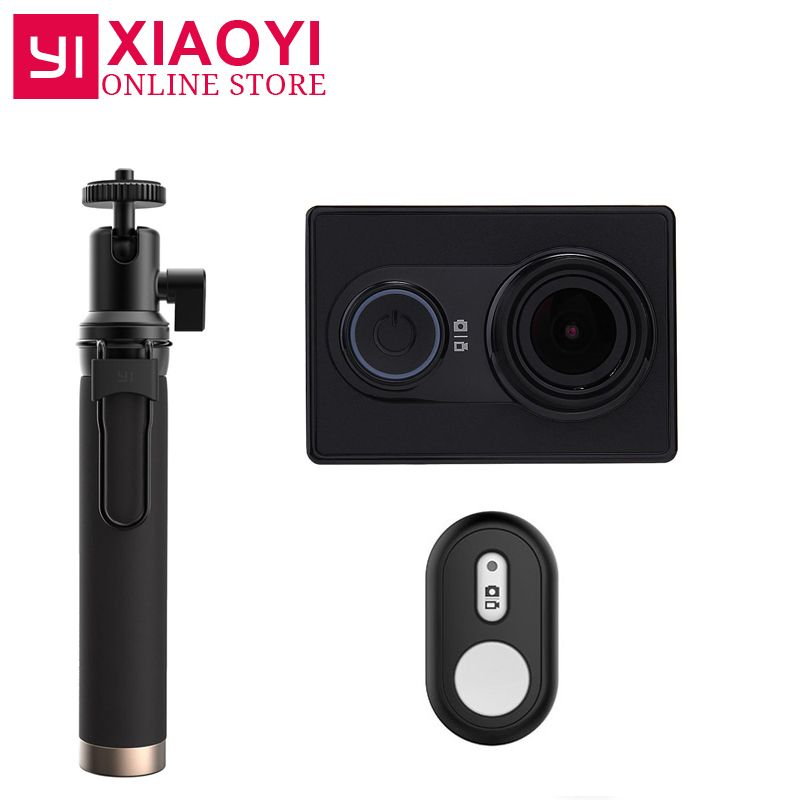 NEW Original Xiaomi YI Action Sports Camera Xiaoyi WiFi Action Cam 3D <font><b>Noise</b></font> Reduction 16MP 60FPS Ambarella International Edition