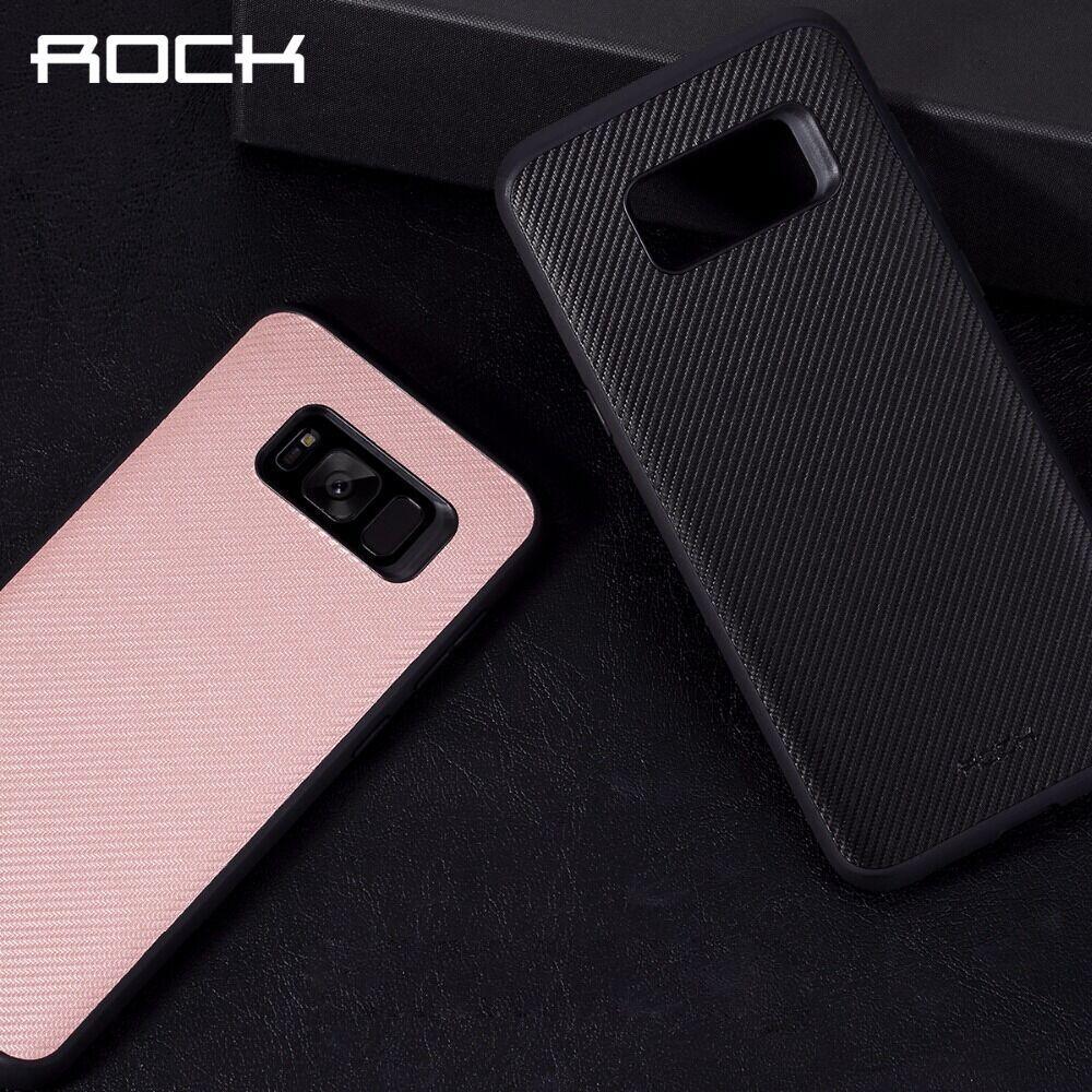 ROCK En Fiber De Carbone Cas de Téléphone pour Samsung Galaxy S8 S8 plus, baisse protection de couverture de cas pour Samsung Galaxy S8/S8 plus