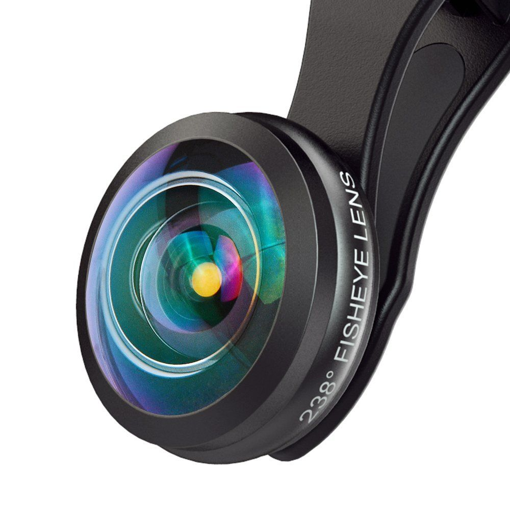 Ulanzi APEXEL Super Fisheye Lens Universal Full Frame 8MM 238 Degree Storage Case for iPhone X 8 7 6 Plus Samsung Huawei Xiaomi