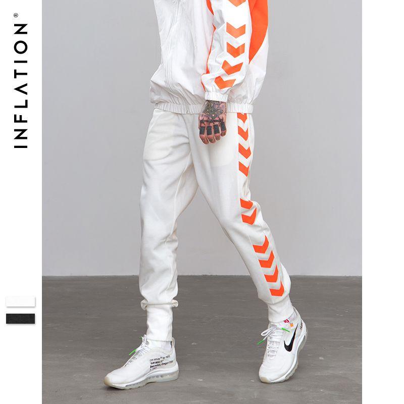 INFLATION 2018 A/W Sweatpants Side Traffic Lane Line Printed Male Streetwear Track Pants Trousers Casual Jogger Pants 8829W