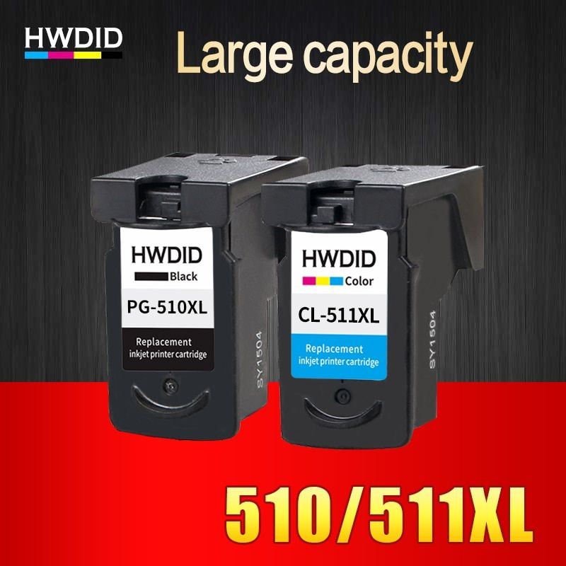 HWDID PG510 CL511 Ink Cartridge Replacement for Canon PG 510 pg-510 CL 511 for MP240 MP250 MP260 MP270 MP280 MP480 MP490 IP2700