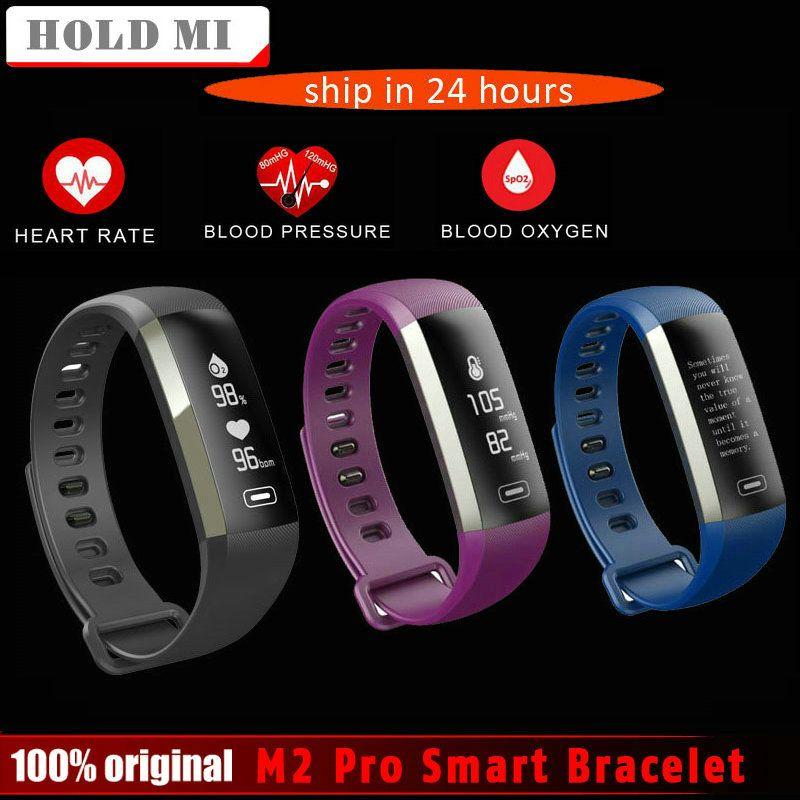 Tenir Mi M2 Pro R5MAX de Remise En Forme Intelligente Bracelet Montre 50 mot Informations affichage pression artérielle moniteur de fréquence cardiaque en oxygène du Sang