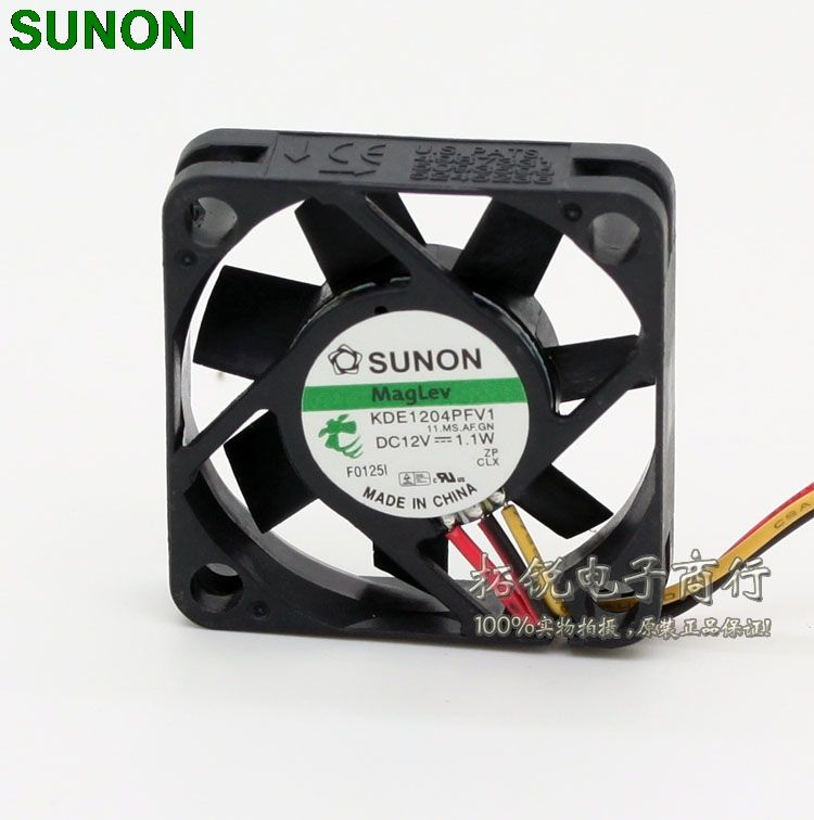 Sunon maglev cooling fans KDE1204PFV1 4010 40mm DC 12V 1.1W 3 wire fan switch