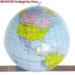 40 Cm Inflatable World Globe Mengajarkan Pendidikan Geografi Mainan Peta Balon Bola Pantai Permainan Luar Ruangan Olahraga Menarik Lucu Gadget