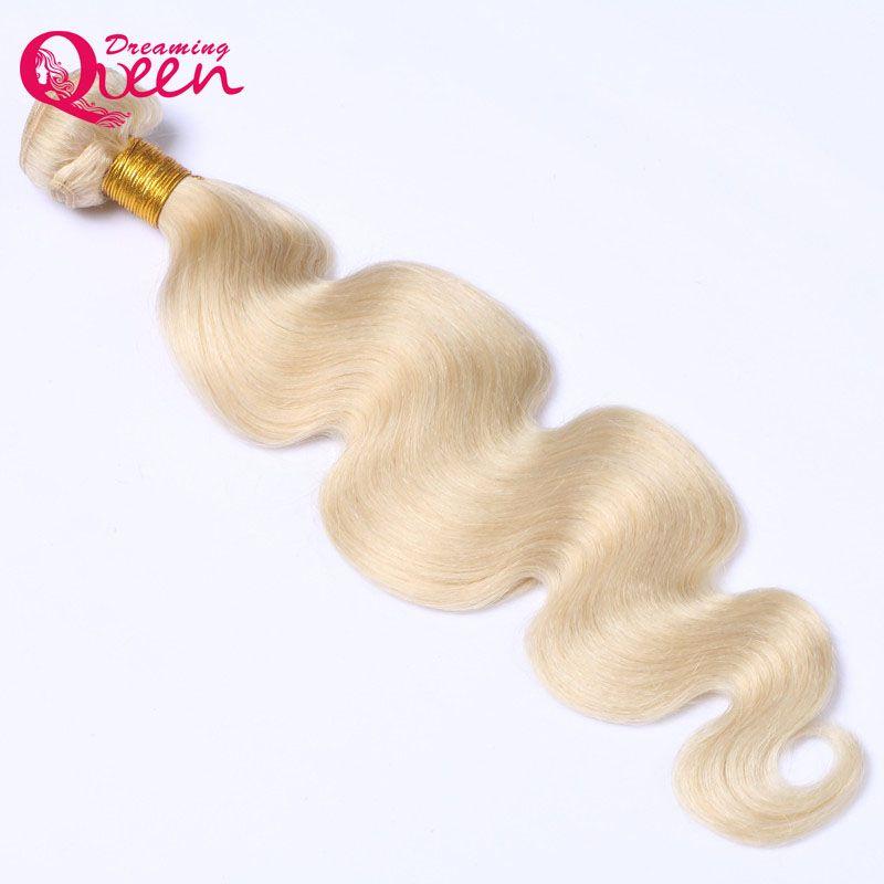 613 блондинка бразильский Средства ухода за кожей волна пучки волос плетение 100% Человеческие волосы ткань 12-30 дюймов без Реми блондинка Мечт...