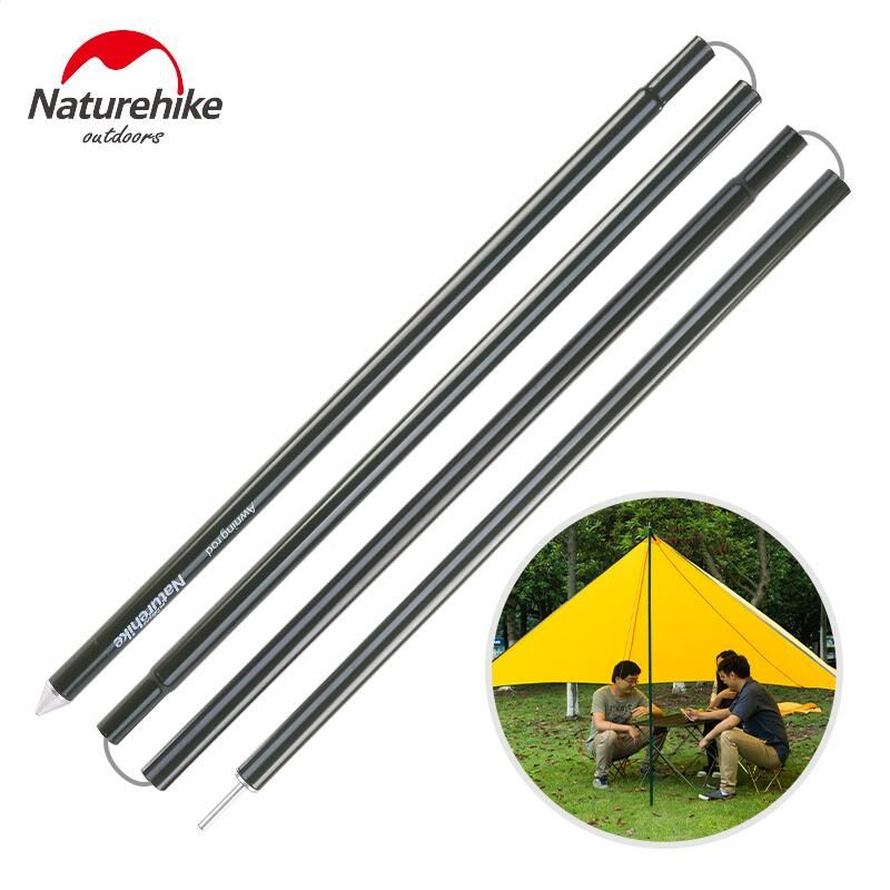 Naturehike Camping Tent Poles 2Pcs/Pair Thicken Aluminum Tent Accessories Awning Rop Tarp Pole Camping Equipment 610g NH15T007-M